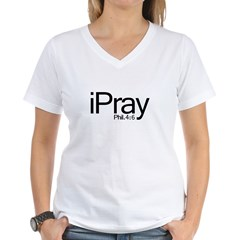 1ipray Women's V-Neck T-Shirt