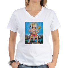 Jai Hanuman Women's V-Neck T-Shirt