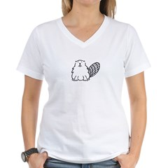 Tough Beaver Women's V-Neck T-Shirt
