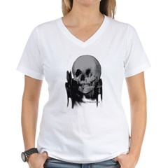 SKULL 5 Women's V-Neck T-Shirt