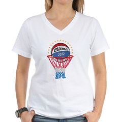 BASKETBALL SHIRT black Women's V-Neck T-Shirt