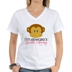 I'm Edward's Spider Monkey Women's V-Neck T-Shirt