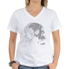 Skulls Double Time Women's V-Neck T-Shirt