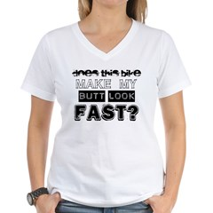 Does this Bike . . . Women's V-Neck T-Shirt