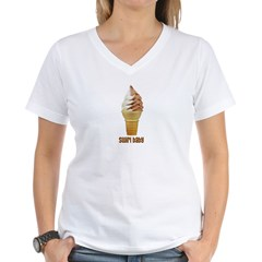 swirl baby.PNG Women's V-Neck T-Shirt