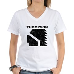 Thompson High Warriors Women's V-Neck T-Shirt