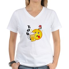 SMILEY EOD.jpg Women's V-Neck T-Shirt