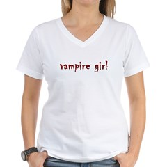Vampire girl Women's V-Neck T-Shirt