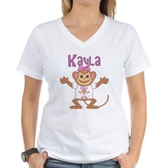 Little Monkey Kayla Women's V-Neck T-Shirt