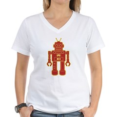 Robot Women's V-Neck T-Shirt