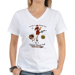 Cultural Material Girl WOD7.1F Women's V-Neck T-Shirt