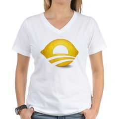 Lemon Presiden Women's V-Neck T-Shirt
