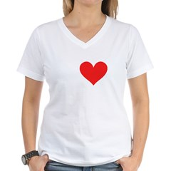 I Heart Volleyball: Women's V-Neck T-Shirt