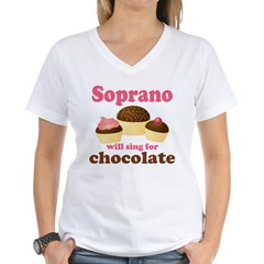 Chocolate Soprano Women's V-Neck T-Shirt