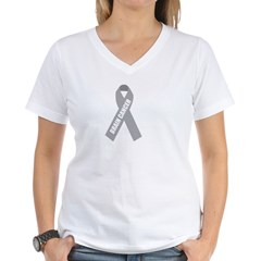 Brain Cancer Hope Women's V-Neck T-Shirt