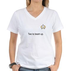 Two to beam up Women's V-Neck T-Shirt