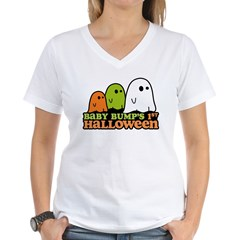 Baby Bump's 1st Halloween Women's V-Neck T-Shirt