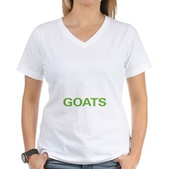 Live Love Goats Women's V-Neck T-Shirt