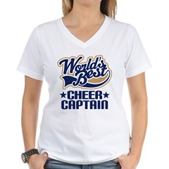 Cheer Captain Women's V-Neck T-Shirt