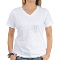 jazz_1_white Women's V-Neck T-Shirt