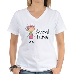 School Nurse Women's V-Neck T-Shirt