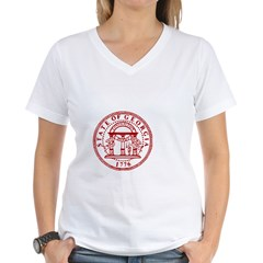 Georgia Seal & Map Women's V-Neck T-Shirt