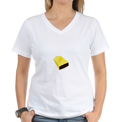 More Cowbell Fever Women's V-Neck T-Shirt