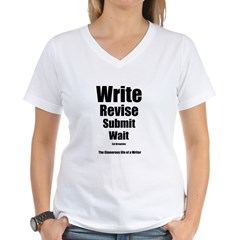 Write Revise Submit Wait Women's V-Neck T-Shirt