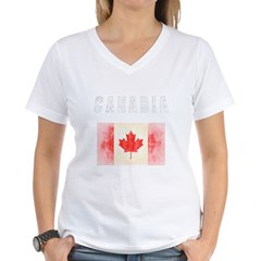 - Canadia Women's V-Neck T-Shirt