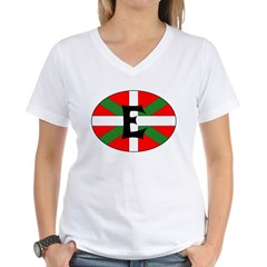 E Flag Women's V-Neck T-Shirt