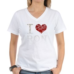 I heart Ron Paul Women's V-Neck T-Shirt