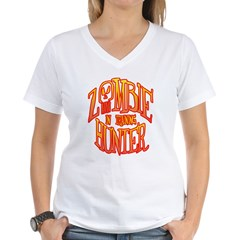Zombie Hunter In Training Women's V-Neck T-Shirt