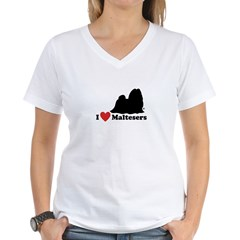 I love Maltesers Women's V-Neck T-Shirt