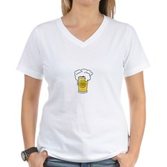 Instant Genius Beer Women's V-Neck T-Shirt