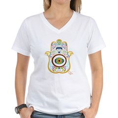 Hamsa Women's V-Neck T-Shirt