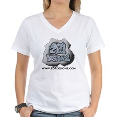 201Designz Gear Women's V-Neck T-Shirt