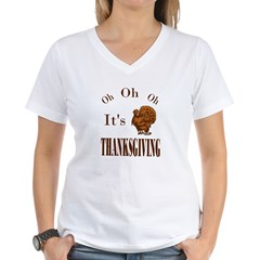 It's Thanksgiving! Women's V-Neck T-Shirt