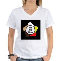 Idle No More - Five Hands Women's V-Neck T-Shirt