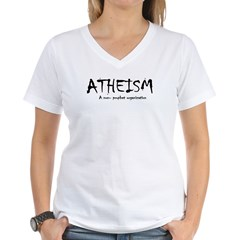 ATHEISM Women's V-Neck T-Shirt