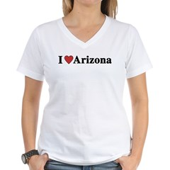 I Love Arizona Women's V-Neck T-Shirt