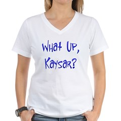 What Up Kaysar? Women's V-Neck T-Shirt