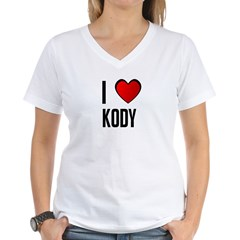 I LOVE KODY Women's V-Neck T-Shirt