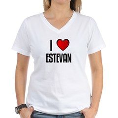 I LOVE ESTEVAN Women's V-Neck T-Shirt