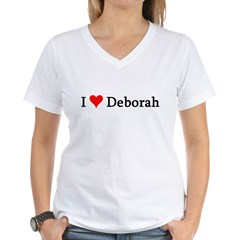 I Love Deborah Women's V-Neck T-Shirt