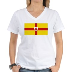 Ulster Flag Women's V-Neck T-Shirt
