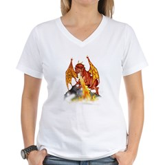 bloodwingBlkT Women's V-Neck T-Shirt