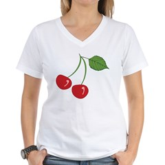 Classic Cherry Women's V-Neck T-Shirt