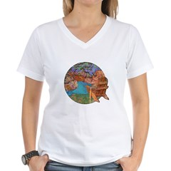Red Canyon Women's V-Neck T-Shirt
