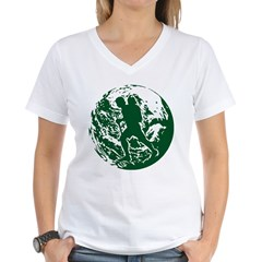 WalkworldGlobe2 Women's V-Neck T-Shirt