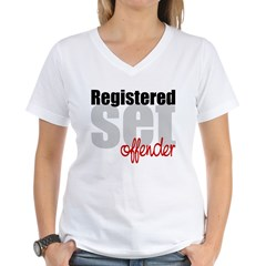 Registered Set Offender Women's V-Neck T-Shirt